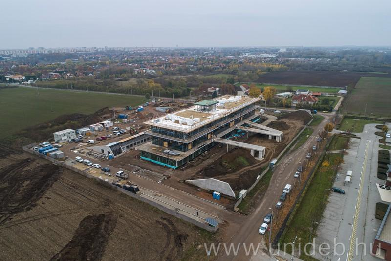 The 5,000-square-meter, three-storey innovation center in Debrecen will soon be completed