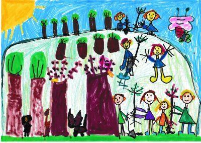 3-6 éves kategória, II. HELYEZETT: Sívadó Jázmin: Az erdőültetés fontos, mert az állatoknak otthonra van szükségük