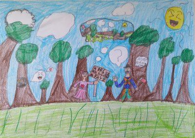 6-10 éves kategória, III. HELYEZETT: Szücs Hajnalka: Ne bántsd a fát!