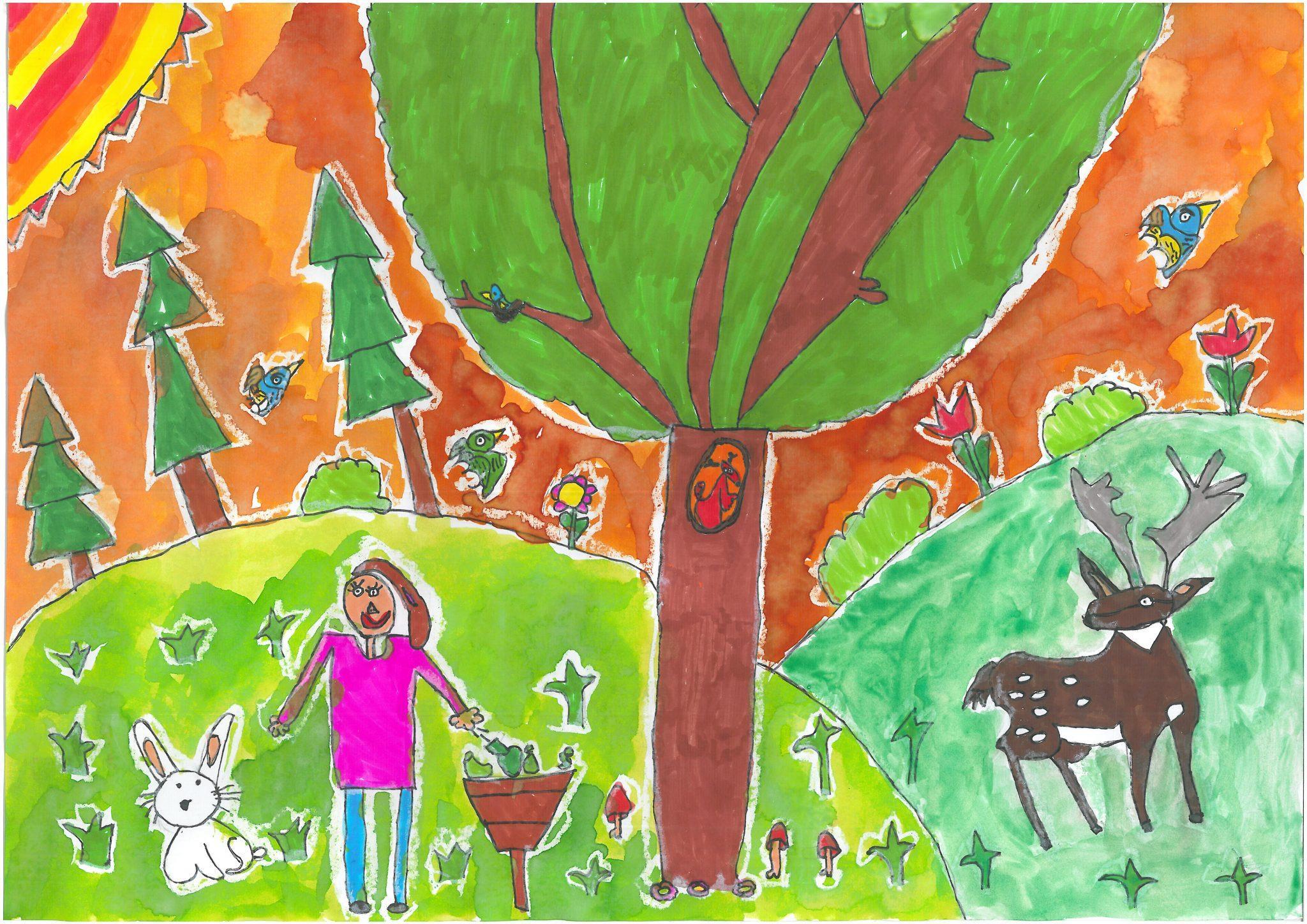 Az erdőben is a kukába tedd a szemetet Debreceni Benedek Elek Általános Iskola