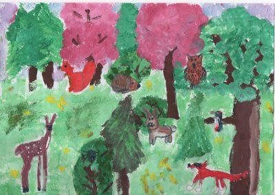 3-6 éves kategória, KÜLÖNDÍJ: Barcza Abigél: Erdei állatok